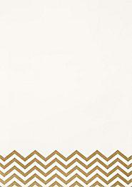 Gold Chevron Foil A7 Printable Wedding Invitations