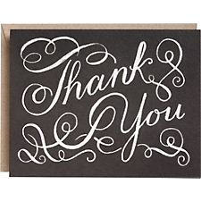 Chalkboard A2 Thank You Notes