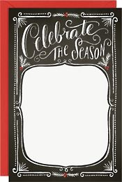 Holiday Chalkboard A9 Printable Party Invitation