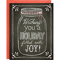 Chalk Mason Jar A2 Holiday Cards