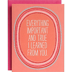 Everything Important A2 Mother's Day Card