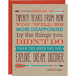 Mark Twain Quote Graduation Card