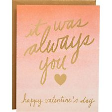 Always You A2 Foil Valentine Card