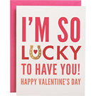 So Lucky A2 Foil Valentine Card