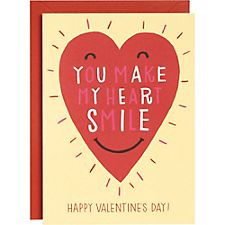 You Make My Heart Smile A6 Valentine Card