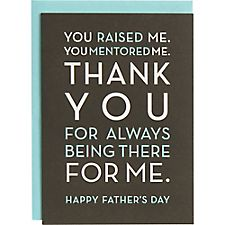 Thank You For Being There Father's Day Card