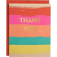 Gold Foil A2 Paint Stripes Thank You Notes