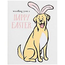 Happy Woofing A2 Easter Card