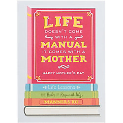 Life Manual A6 Mother's Day Card