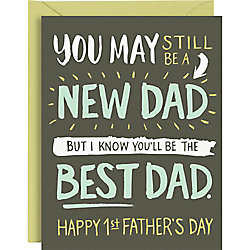 New Dad Best Dad Father's Day Card