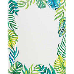 Tropical Leaves Paper - 8.5 x 11