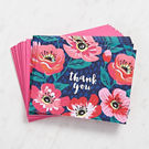 Pink Bold Floral Thank You Cards