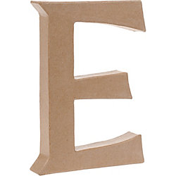 Uppercase E Craft Letter