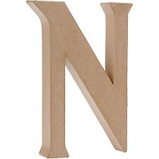 Uppercase N Craft Letter