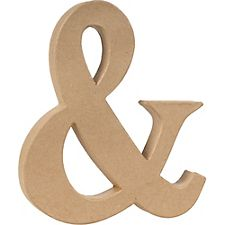 Ampersand Craft Letter