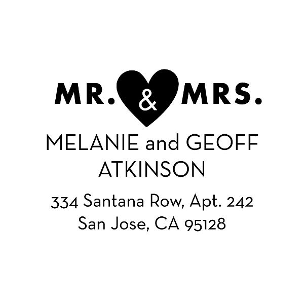 Mr. & Mrs. Custom Stamp