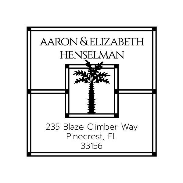Palm Tree Square Custom Stamp
