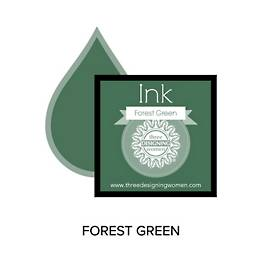 Forest Green Replacement Inkpad for Custom Stamps