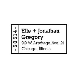 Mini Address Label Custom Stamp
