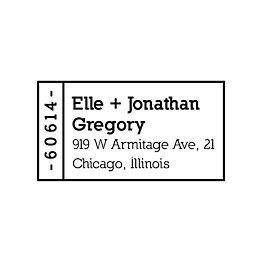 Mini Address Label Custom Stamp