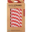 Red & White Paper Straws