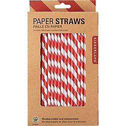 Red & White Paper Straws