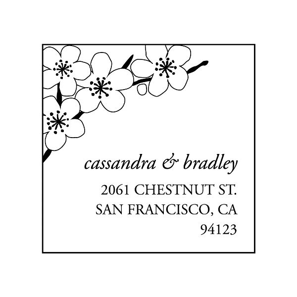 Cherry Blossom Custom Stamp