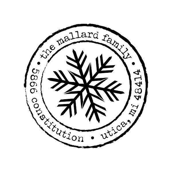 Postmark Snowflake Custom Stamp