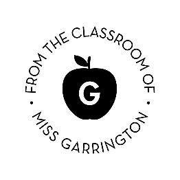 Classroom Apple Custom Stamp