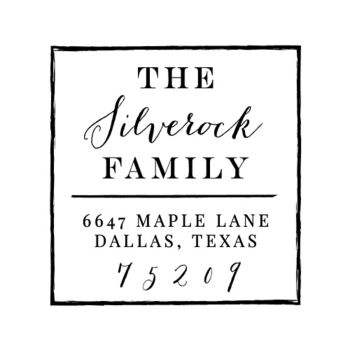 Custom Address Stamp Designs
