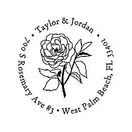 Sketch Rose Custom Stamp