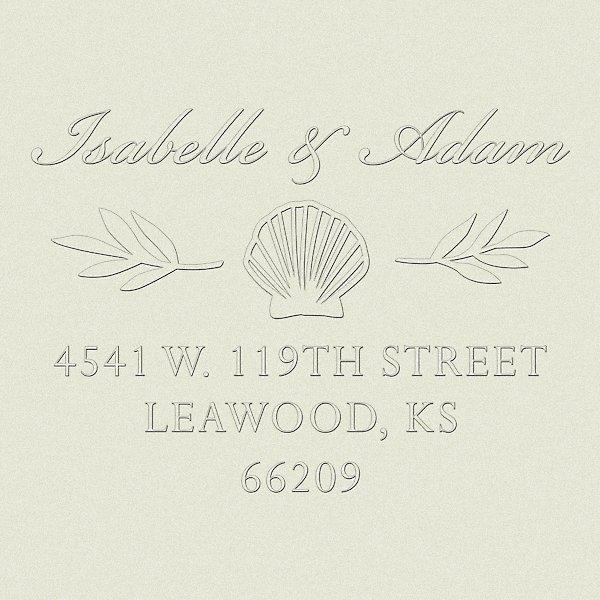 6b13c1e949367 Seashells Custom Embosser