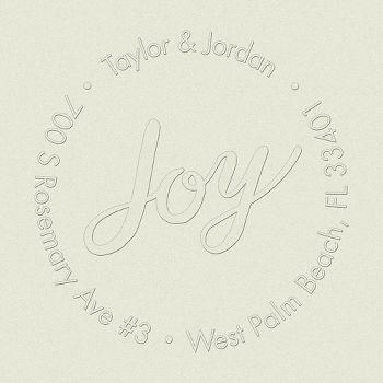 Joy Script Custom Embosser