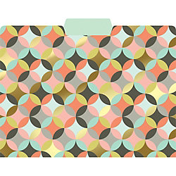 Geometric Circles Gold Foil File Folders