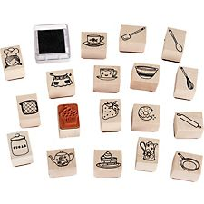 Cook It Rubber Stamp Set