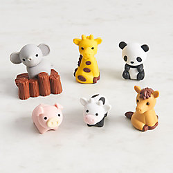 Zoo Animal Erasers