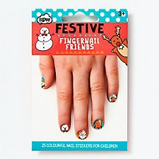 Festive Holiday Fingernail Friends