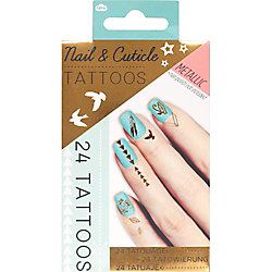 Metallic Nail Cuticle Tattoos