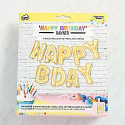 Happy Birthday Foil Balloon Banner