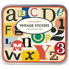 Cavallini Vintage Alphabet Stickers