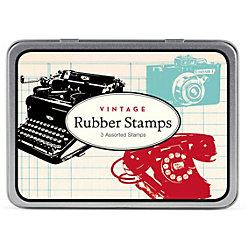 Cavallini Vintage Rubber Stamp Set