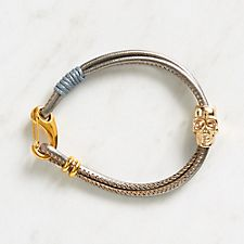 Silver Metallic Skull Bracelet