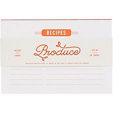 Produce Recipe Cards