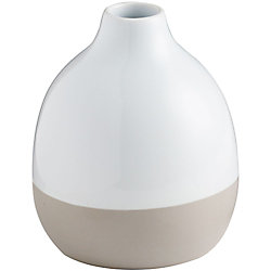 Colorblock Grey Vase