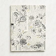 Black and White Floral Journal