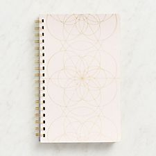 Blush Geometric Spiral Journal