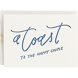Toast To The Happy Couple Wedding Card
