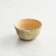 Egg Shell Bamboo Bowl - Small
