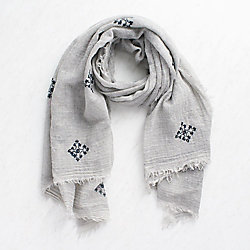 Fine Wool Beaded Scarf