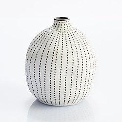 Black And White Ceramic Vase - Small
